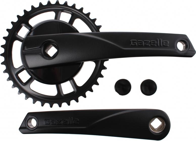 Gazelle crankstel Strixvaria 38T aluminium/staal zwart