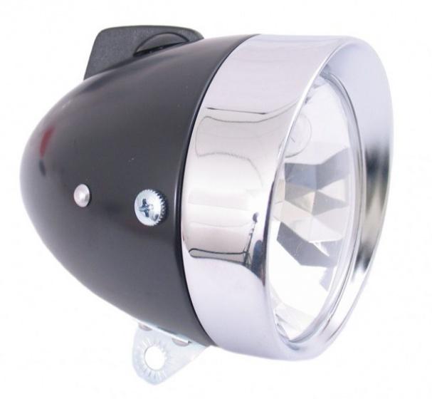 Gazelle koplamp Retro dynamo 10 cm zwart/zilver