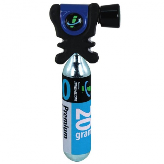 Genuine Innovations Co2 pomp AirChuck+ 20 gram Co2 patroon blauw