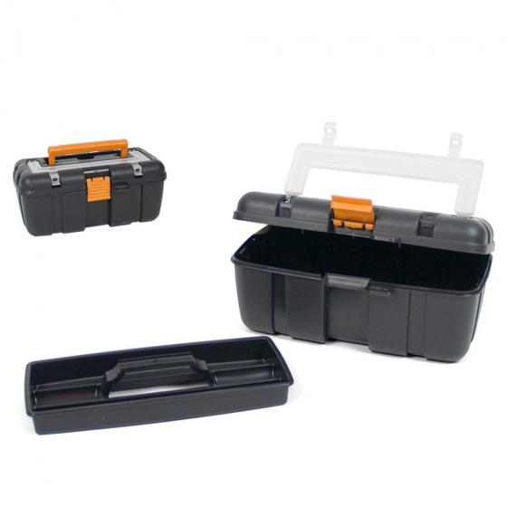 Gerimport gereedschapskoffer 25 x 14 x 11 cm zwart