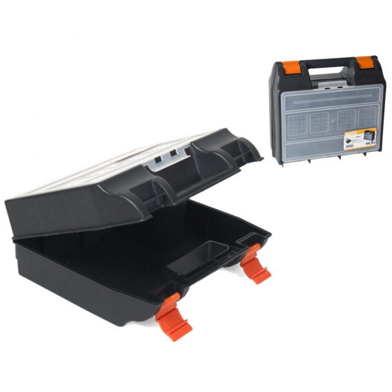 Gerimport gereedschapskoffer 34 x 14 x 33 cm zwart