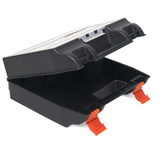 Korting Gerimport Gereedschapskoffer 34 X 14 X 33 Cm Zwart