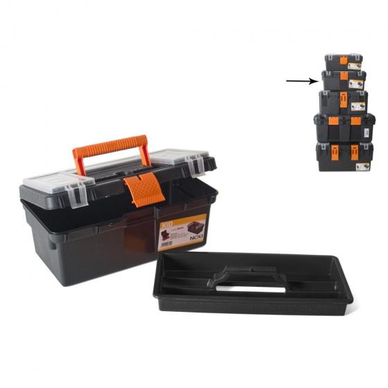 Gerimport gereedschapskoffer 36 x 21 x 22 cm kunststof zwart