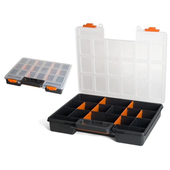 Gerimport gereedschapskoffer organizer 38 x 33 x 6 cm zwart