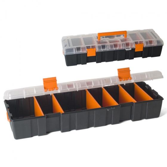 Gerimport gereedschapskoffer 45 x 16 x 9 cm kunststof zwart