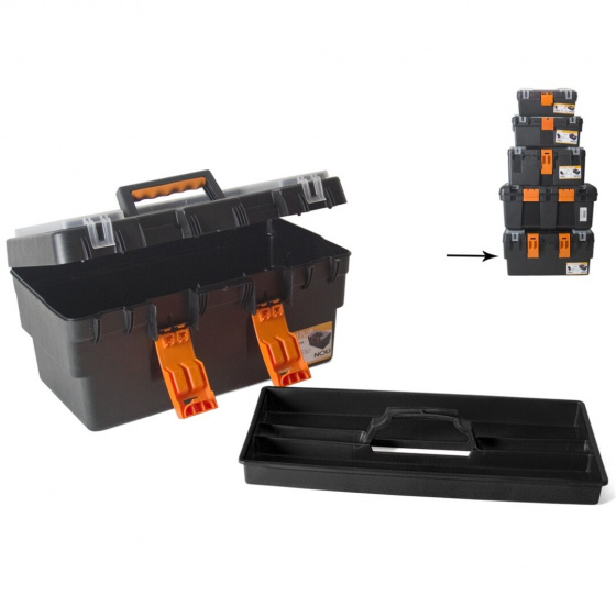 Korting Gerimport Gereedschapskoffer 47 X 26 X 24 Cm Zwart