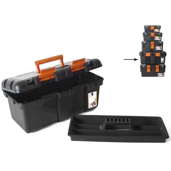 Gerimport gereedschapskoffer 50 x 26 x 23 cm zwart