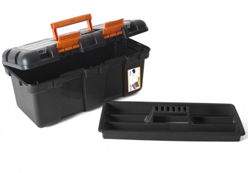Korting Gerimport Gereedschapskoffer 50 X 26 X 23 Cm Zwart