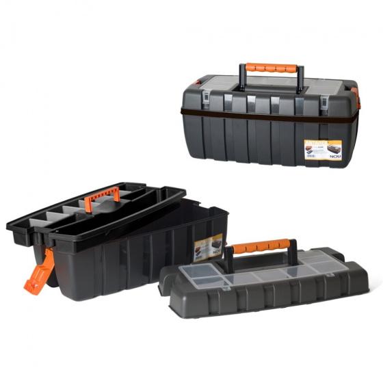 Gerimport gereedschapskoffer 54 x 27 x 23 cm zwart