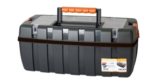 Korting Gerimport Gereedschapskoffer 54 X 27 X 23 Cm Zwart