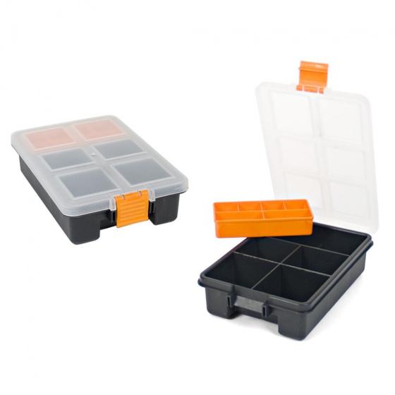 Gerimport gereedschapskoffer organizer 23 x 15 x 6 cm zwart