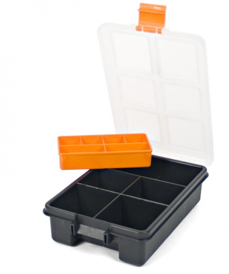 Korting Gerimport Gereedschapskoffer Organizer 23 X 15 X 6 Cm Zwart