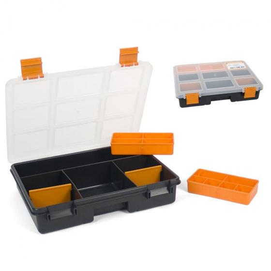 Gerimport gereedschapskoffer organizer 28 x 23 x 6 cm zwart