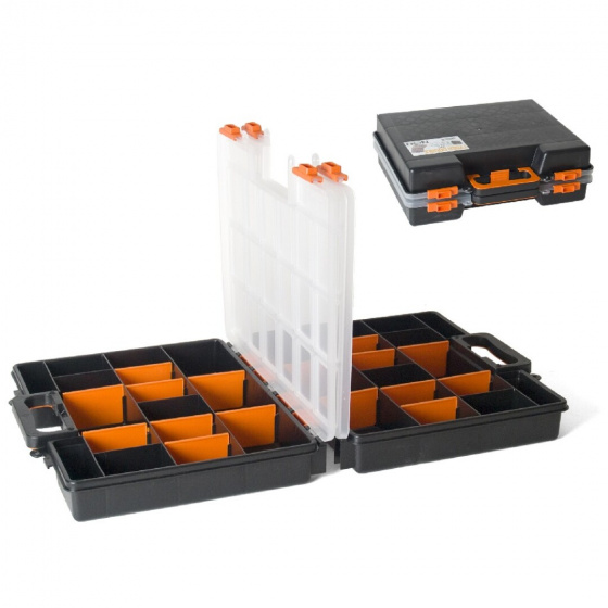Gerimport gereedschapskoffer organizer 38 x 33 x 12 zwart