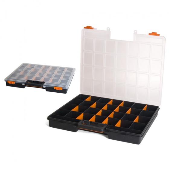 Gerimport gereedschapskoffer organizer 48 x 41 x 6 cm zwart