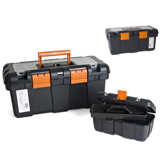 Gerimport gereedschapskoffer set 50 x 24 x 23 cm zwart