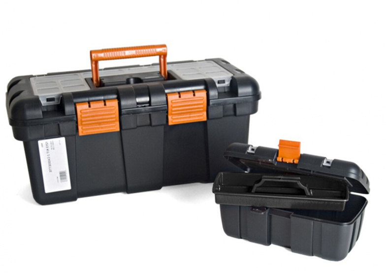 Korting Gerimport Gereedschapskoffer Set 50 X 24 X 23 Cm Zwart