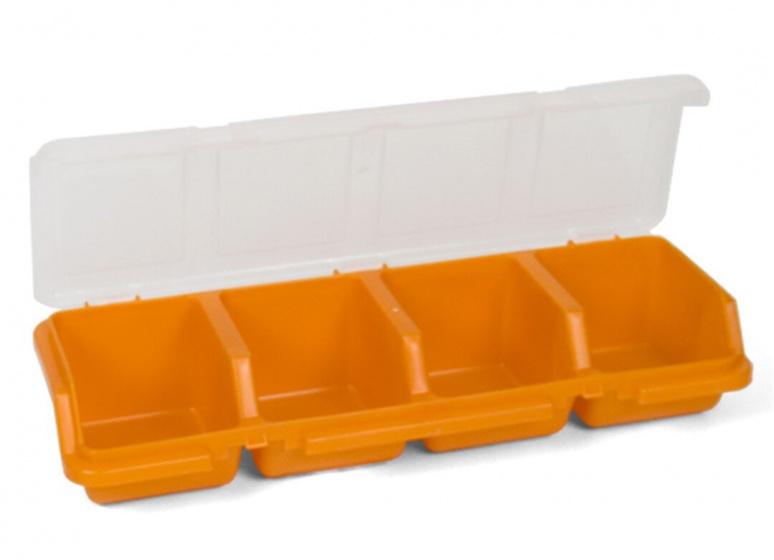 Korting Gerimport Organizer Opbergdoos 32 X 11 X 6 Cm Oranje