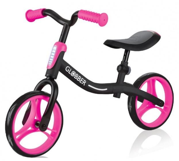 Globber Go Bike loopfiets 10 Inch Meisjes Zwart/Roze
