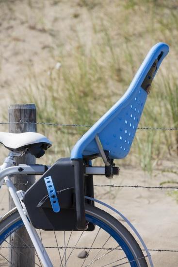 Yepp fietszitje achter Maxi blauw framebuisbevestiging