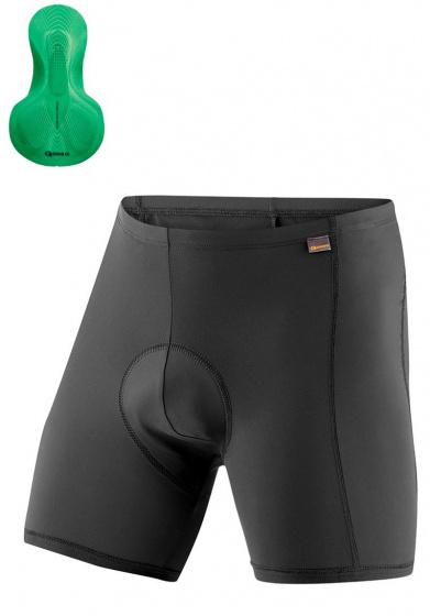 Gonso fietsbroek Sitivo U heren polyamide zwart/groen maat L