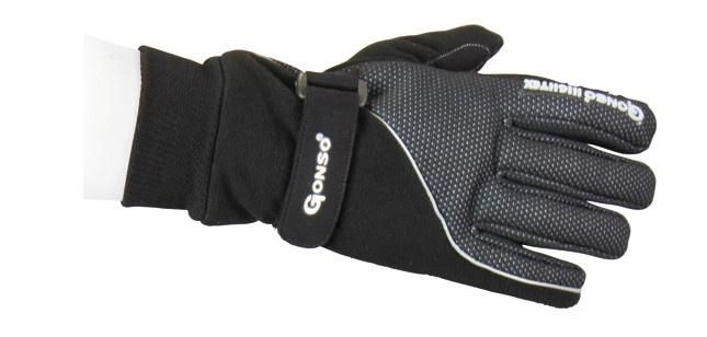 Gonso fietshandschoenen thermo unisex zwart maat 9,5