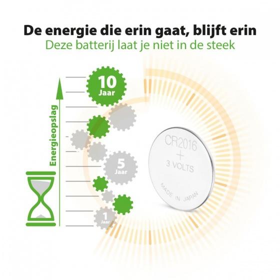 GP batterij knoopcel Lithium 3V CR2016 per stuk