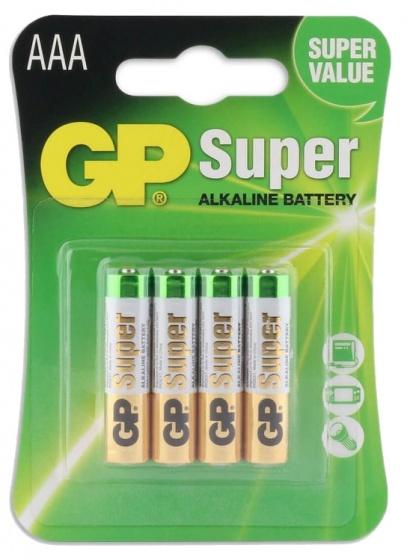GP batterijen Super AAA alkaline per 4 stuks