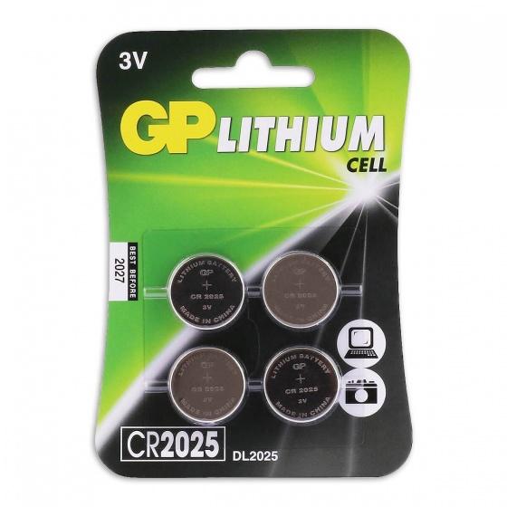 GP CR2025 Lithium knoopcelbatterijen 3V 4 stuks