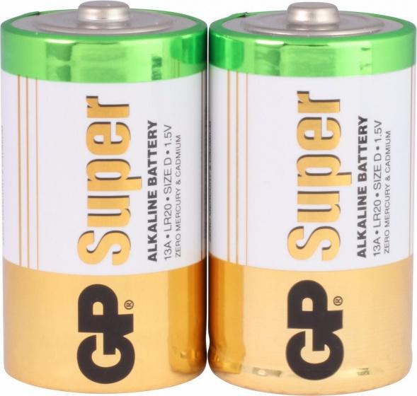 GP Super Alkaline batterijen type D 2 stuks