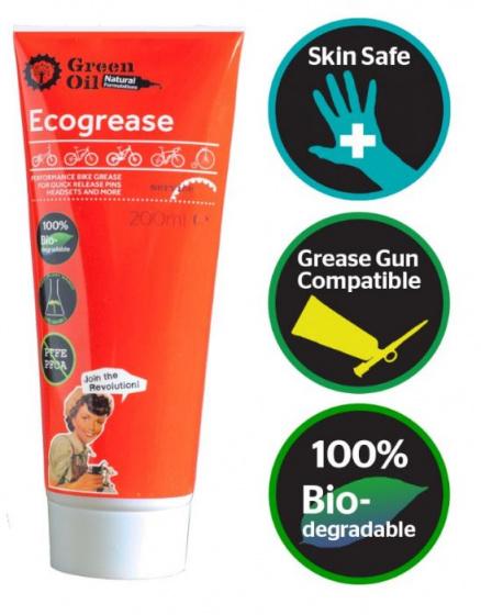 Green Oil montagevet Ecogrease 200ml rood
