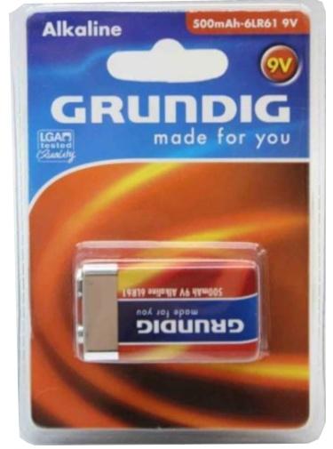 Grundig batterij 9V 6LR61 alkaline