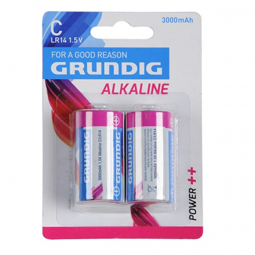 Grundig batterijen C/LR14 1.5V Alkaline power 2 stuks