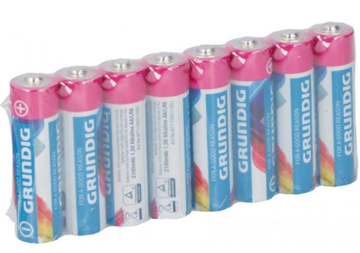 Grundig batterijen alkaline AA LR6 8 stuks