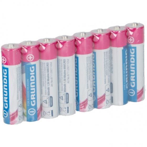 Grundig batterijen alkaline AAA LR03 8 stuks