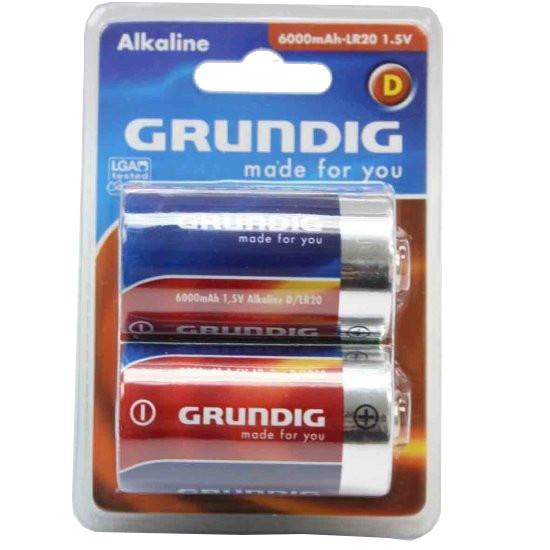 Grundig batterijen alkaline LR20 D 2 stuks
