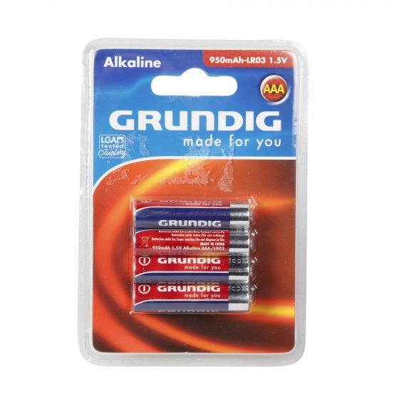Grundig batterijen alkaline LR3 AAA 4 stuks