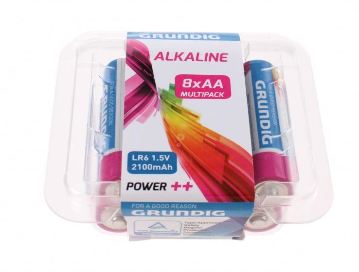 Grundig batterijen alkaline LR6 AA 8 stuks