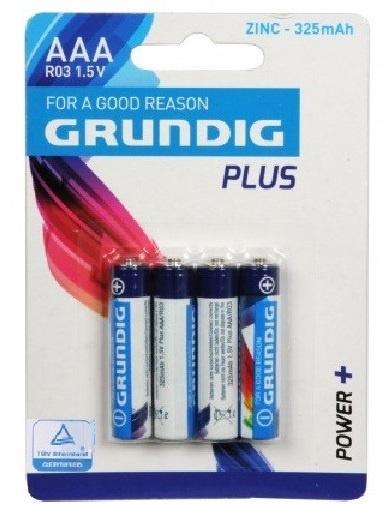 Grundig batterijen alkaline R3 AAA ZN 325 mAh 4 stuks