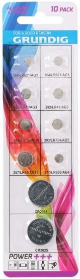 Grundig batterijen knoopcel alkaline/lithium 10 stuks
