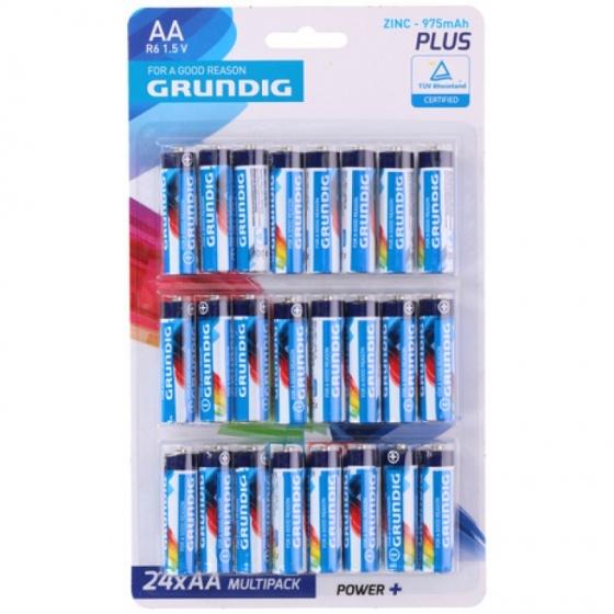 Grundig batterijen R06 AA zink 24 stuks