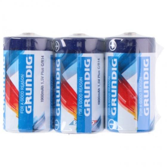 Grundig batterijen R14 C 3 stuks
