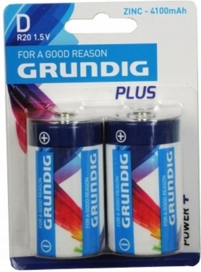 Grundig batterijen R20/D ZN 4100 mAh 2 stuks