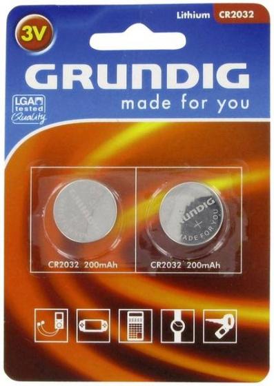 Grundig knoopcelbatterijen CR2032 2 stuks