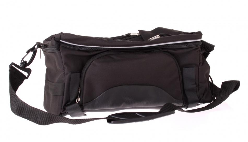 Haberland bagagedragertas 10 L zwart