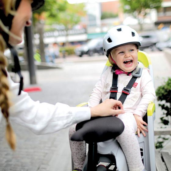 Hamax fietszitje achter Amaze polypropyleen grijs/lime