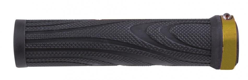 M Wave Handvatset Schroef Aluminium 130 mm Zwart Goud Per Set