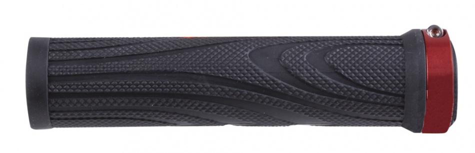 M Wave Handvatset Schroef Aluminium 130mm Zwart Rood Per Set