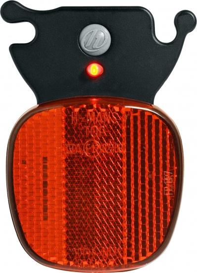 Korting Herrmans Achterlicht Led H rail Batterijen Zwart rood