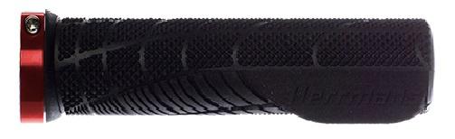 Herrmans handvatten Shark Lock Fin 130 x 22 mm TPE zwart/rood